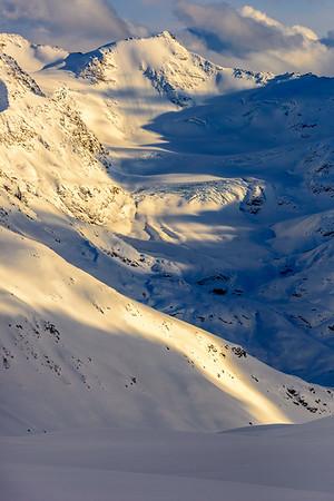 Sunlight and shadows, Italian Alps