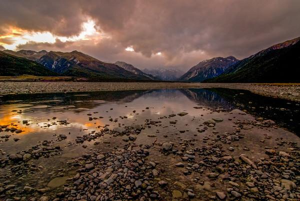 Sunset on New Zealand's South Island