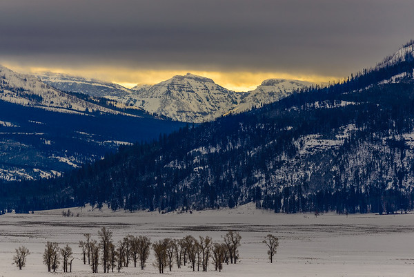 Dark clouds over the Lamar Valley, Yellowstone National Park