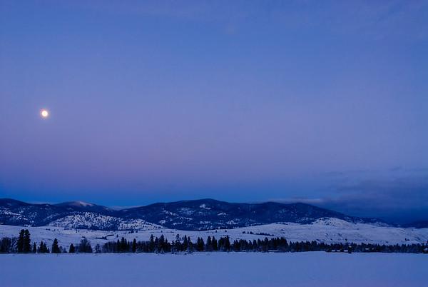 Full moon in the Methow Valley, Washington