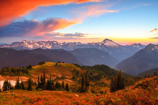 Clearing storm over Sloan Peak, Glacier Peak Wilderness, Cacsade Mountains, Washington