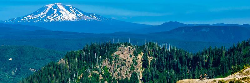 Rest break on Mt St Helens, Washington