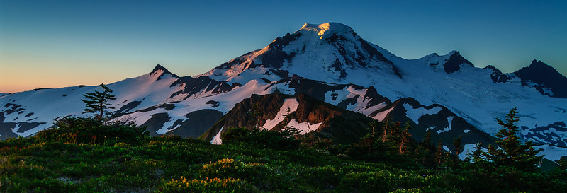 Evening light on Mt Baker, Washington