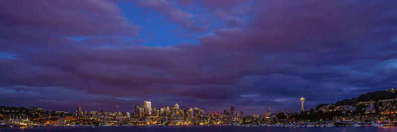 Seattle skyline from Gasworks Park