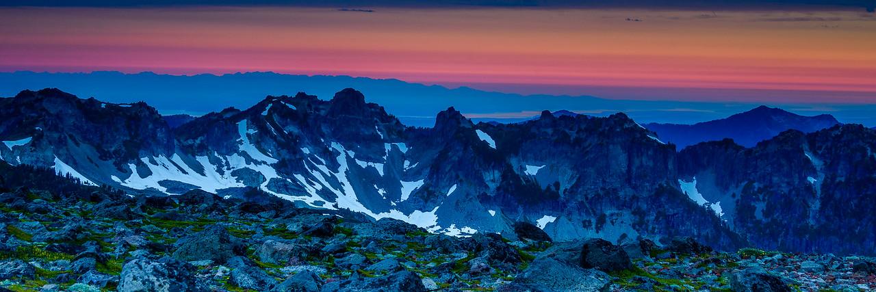 Sunrise from Spray Park, Mt Rainier National Park