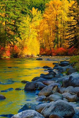 Fall on the Wenatchee River, Washington