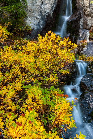 Cacsade waterfall, Enchantments Wilderness, Central Cascades, Washington