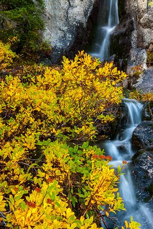 Cacsade waterfall, Enchantments Wilderness, Central Cascades, Washington