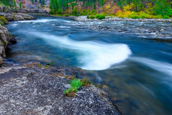 Middle Fork of the Salmon River in fall, Idaho