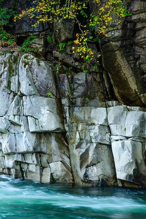 Canyon wall, Skykomish River, Washington