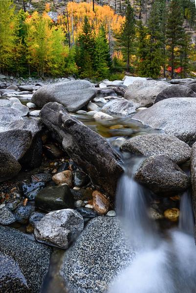 Wenatchee River in fall, Washington