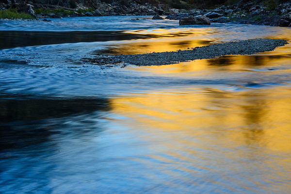 River reflections, Middle Fork of the Salmon River, Idaho