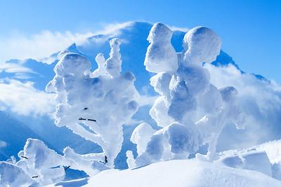 Snow gremlins, Cascades, Washington