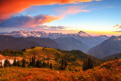 Clearing storm over Dome Peak, Cacsade Mountains, Washington