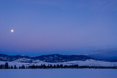 Early winter evening in the Methow Valley, Washington