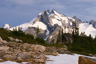 Dome Peak from White Rock Lakes, North Cascades, Washington