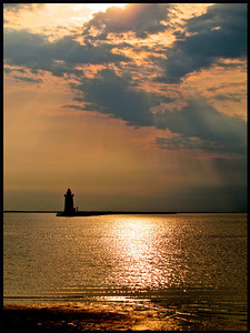Lewes breakwater lighthouse shot from Cape Henlopen State Park.