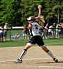 Kennett High School pitcher Molly Saunders uncoils a pitch, during state girls class 1 playoff action, held 6/6/09, in North Conway, NH. Kennett's opponent, the  John Stark Generals, of Weare, NH, went on to win the game 4-3.
