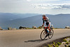 "Anthony Colby, 30, of Durango, Colorado, stretches out his lead, well above timberline, during the ""Newton's Revenge"" bicycle race up New Hampshire's Mt. Washington, held on July 11th, 2009. Mr. Colby went on to win with a time of 53:50, on the grueling 7.6 mile course, which he also won in 2008."