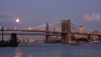 The Brooklyn Bridge, from Manhattan, NY