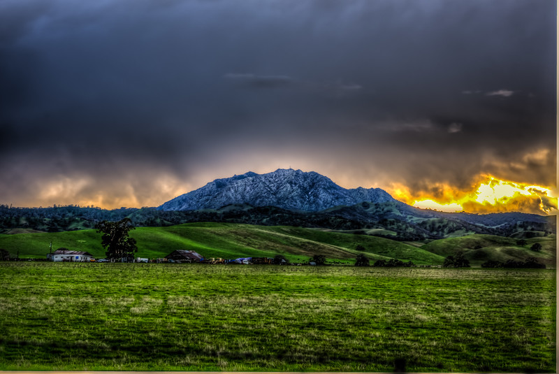 Mt Diablo after the Hail storm January 2016