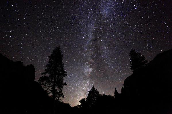 Milky Way thru Yosemite Valley