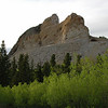 Crazy Horse, South Dakota.  When completed the sculpture will be 563' high and 641' long.