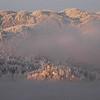 Lake Bled, Slovenia at sunrise: The Island peeks through the morning mist.