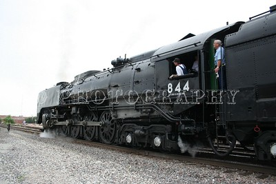 Union Pacific 844 Steam Locomotive Bringing wounded Soldiers to Wichita, Kansas for a Welcome Home From The American Legion Riders.