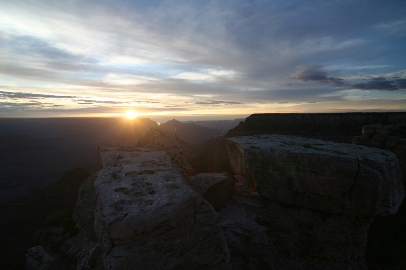 Grand Canyon National Park, Sunrise at 5:23am in August 2007