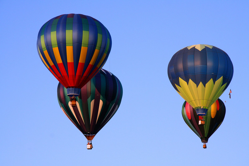 Hot Air Balloons over Albany, Oregon