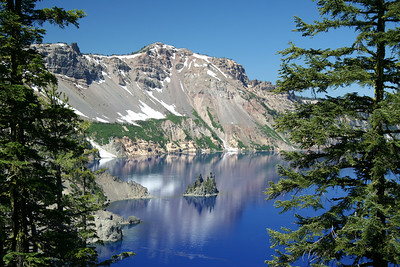 Crater Lake National Park, July 2007 View from Phantom Ship Overlook