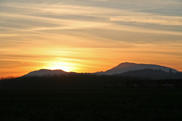 Sunset behind Mary's Peak, Oregon beauty
