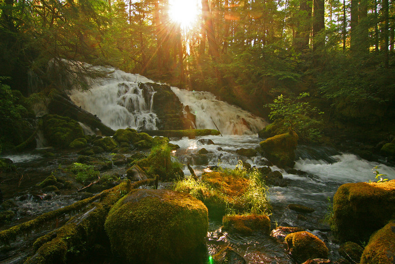 Sunrise at Mill Creek Falls, Oregon<br /> Morning has spoken...