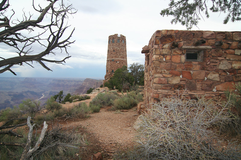 Grand Canyon National Park<br /> The Watchtower on the Southeast Side of the Canyon