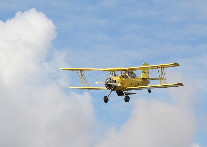 Crop Duster over Albany, Oregon