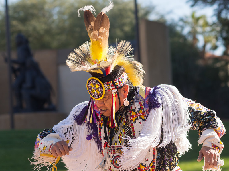 Diné (Navajo) hoop dancer