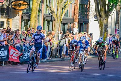 The finish line, Ballard Criterium, Seattle, Washington