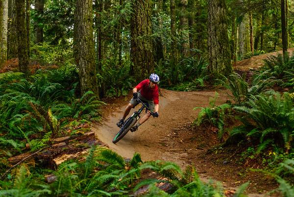 Bank turn, Duthie Hill Mountain Bike Park, Washington