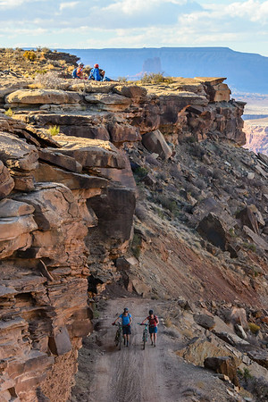 Too steep to ride, White Rim Trail, Canyonlands National Park, Utah