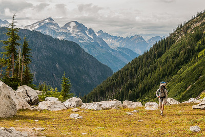On the approach to Mt Logan, North Cascades