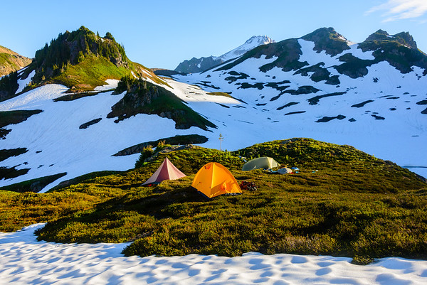 Camp, Glacier Peak Wilderness, Washington