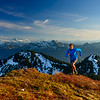 Trail running, Cascade Mountains, Washington