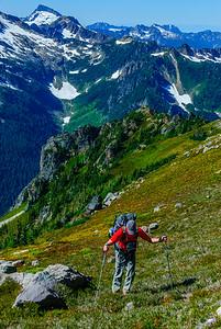 Approaching Glacier Peak, Cacsade Mountains, Washington