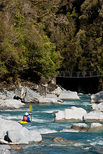 Heading into the abyss on the Arahura River, New Zealand