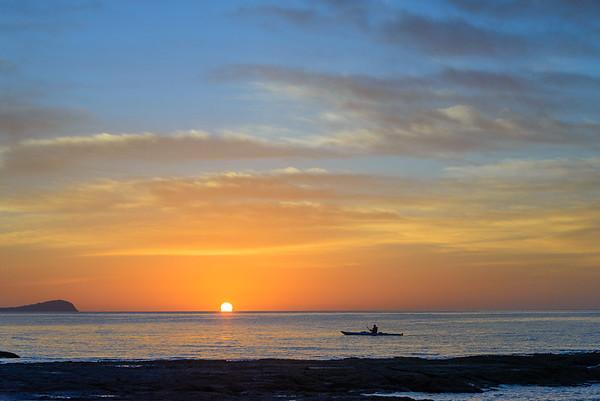 Sunrise paddle, Baja, Mexico