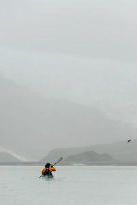 Foggy paddling, Glacier Bay, Alaska
