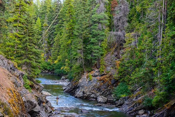 Fly fishing Icicle Creek, Washington