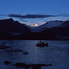Evening float on Alsek Lake, Alaska