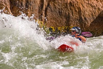 Preparing to take a hit on the Colorado River, Grand Canyon, Arizona